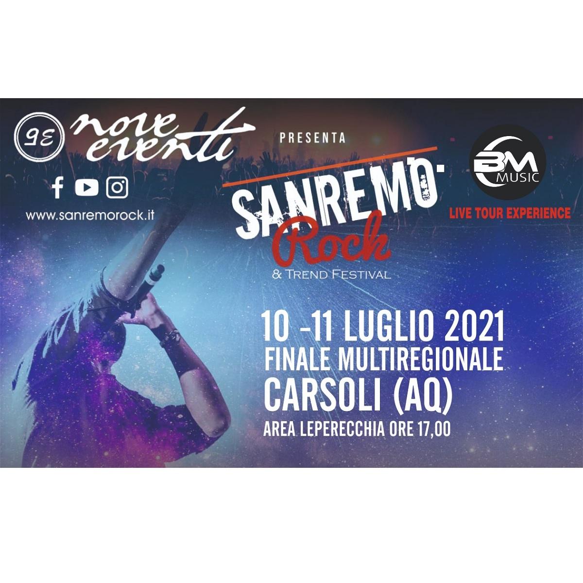 Live Tour Finali Regionali Sanremo Rock & Trend a Carsoli foto