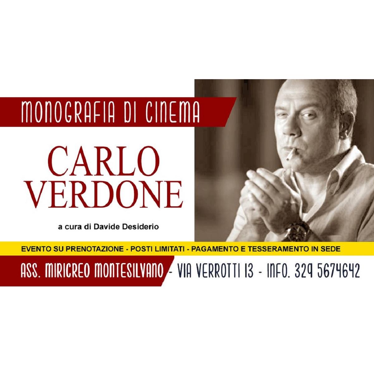 Monografia di cinema Carlo Verdone 12 giugno 2021 foto