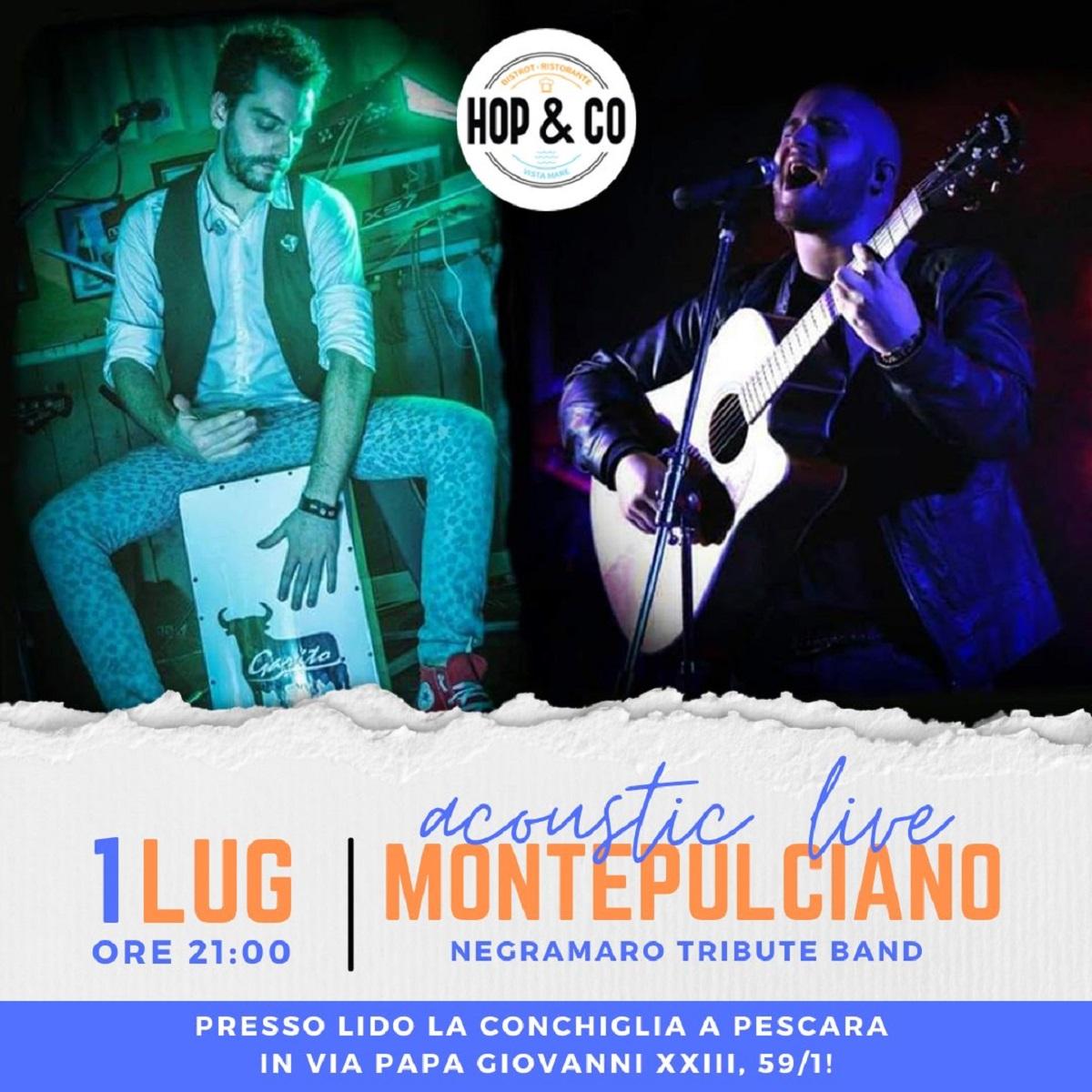 Montepulciano Tribute Band in acoustic live 1 luglio 2021 foto