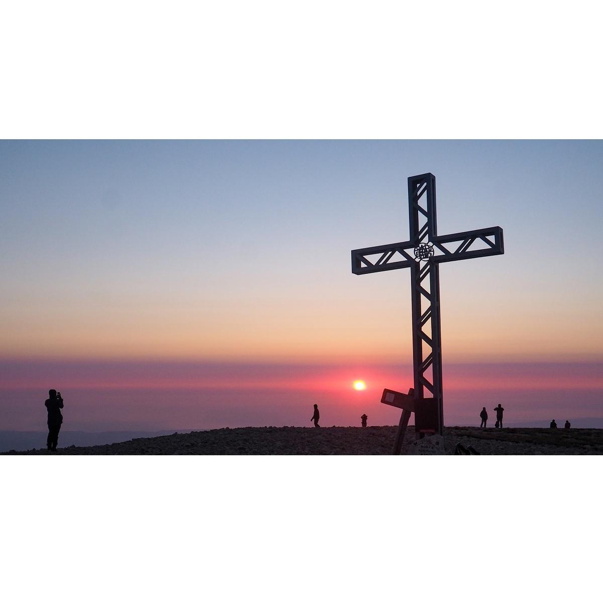 Notturna e alba sul Monte Acquaviva (2737 m) foto