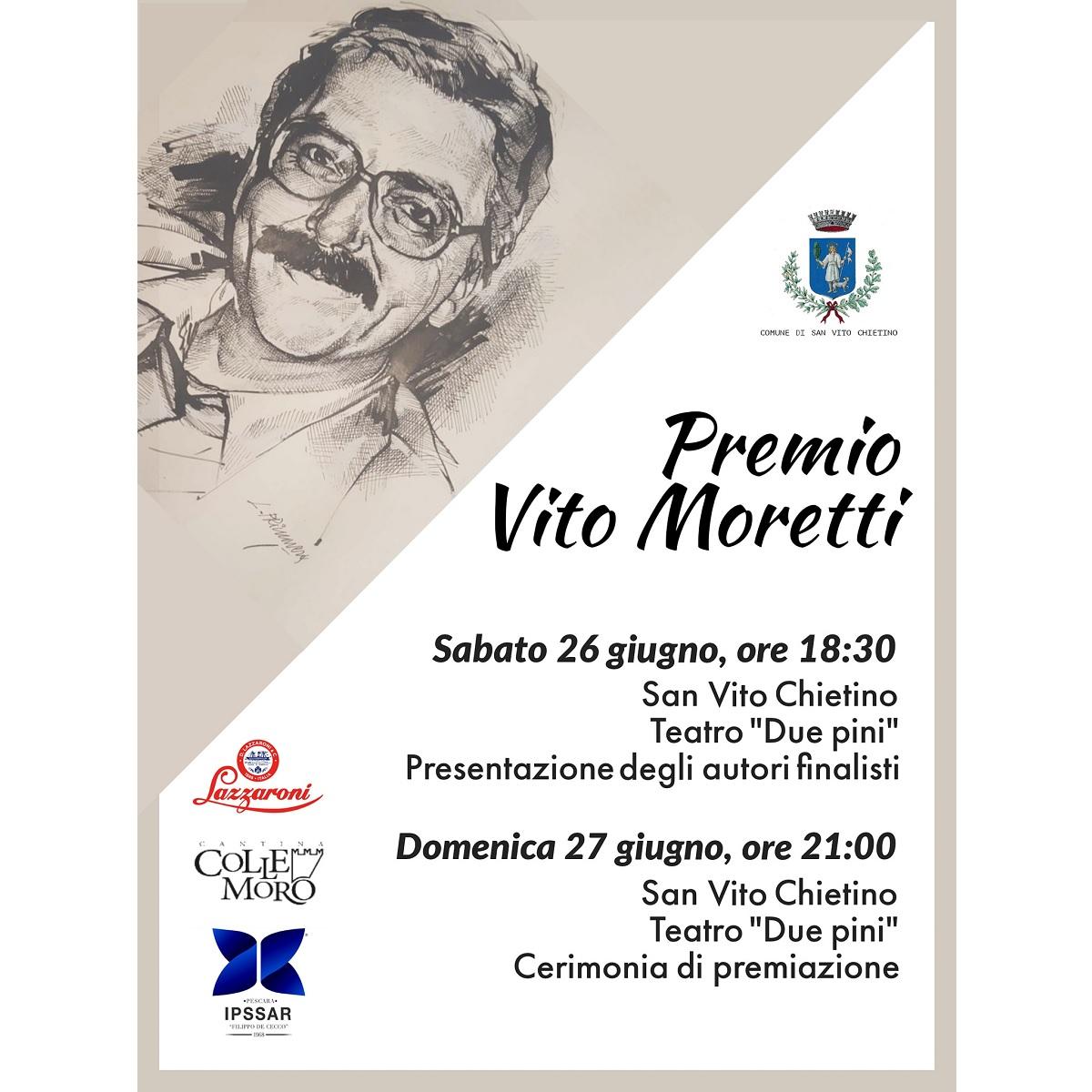 Premio Vito Moretti a San Vito Chietino 26 e 17 giugno 2021 foto