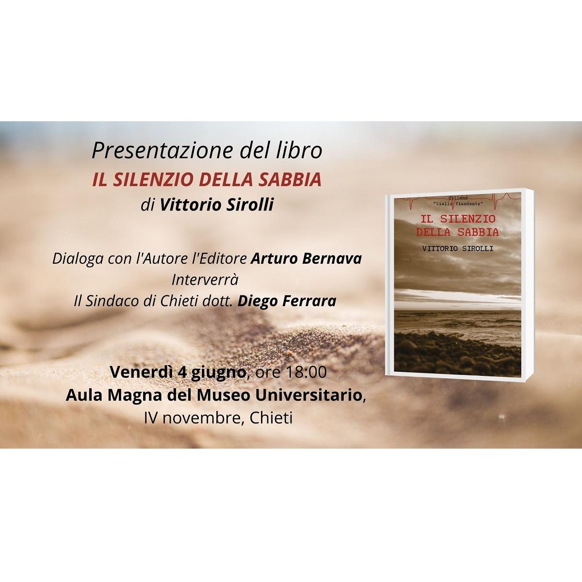 Presentazione del libro Il silenzio della sabbia 4 giugno 2021