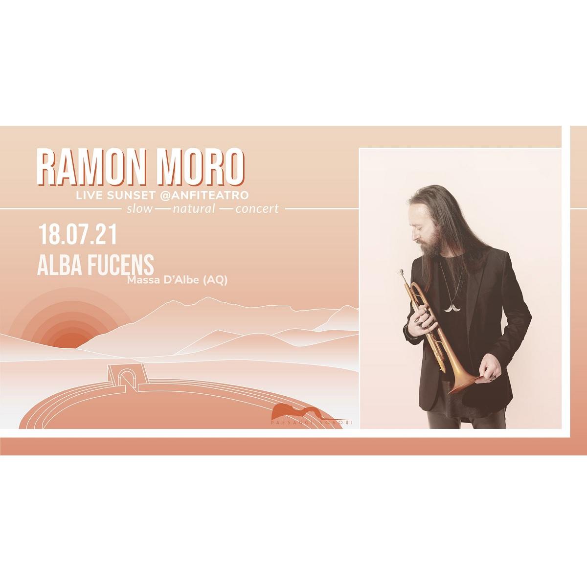 Ramon Moro live sunset presso Rovine Romane Alba Fucens foto