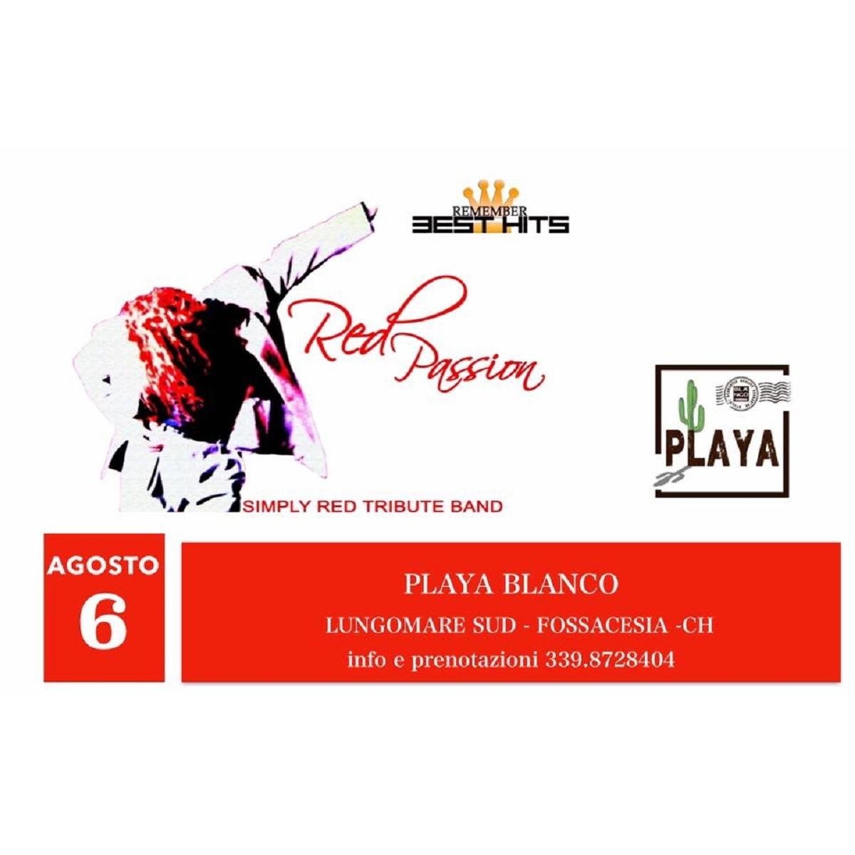 Red Passion al PlayaBlanco a Fossacesia 6 agosto 2021 foto