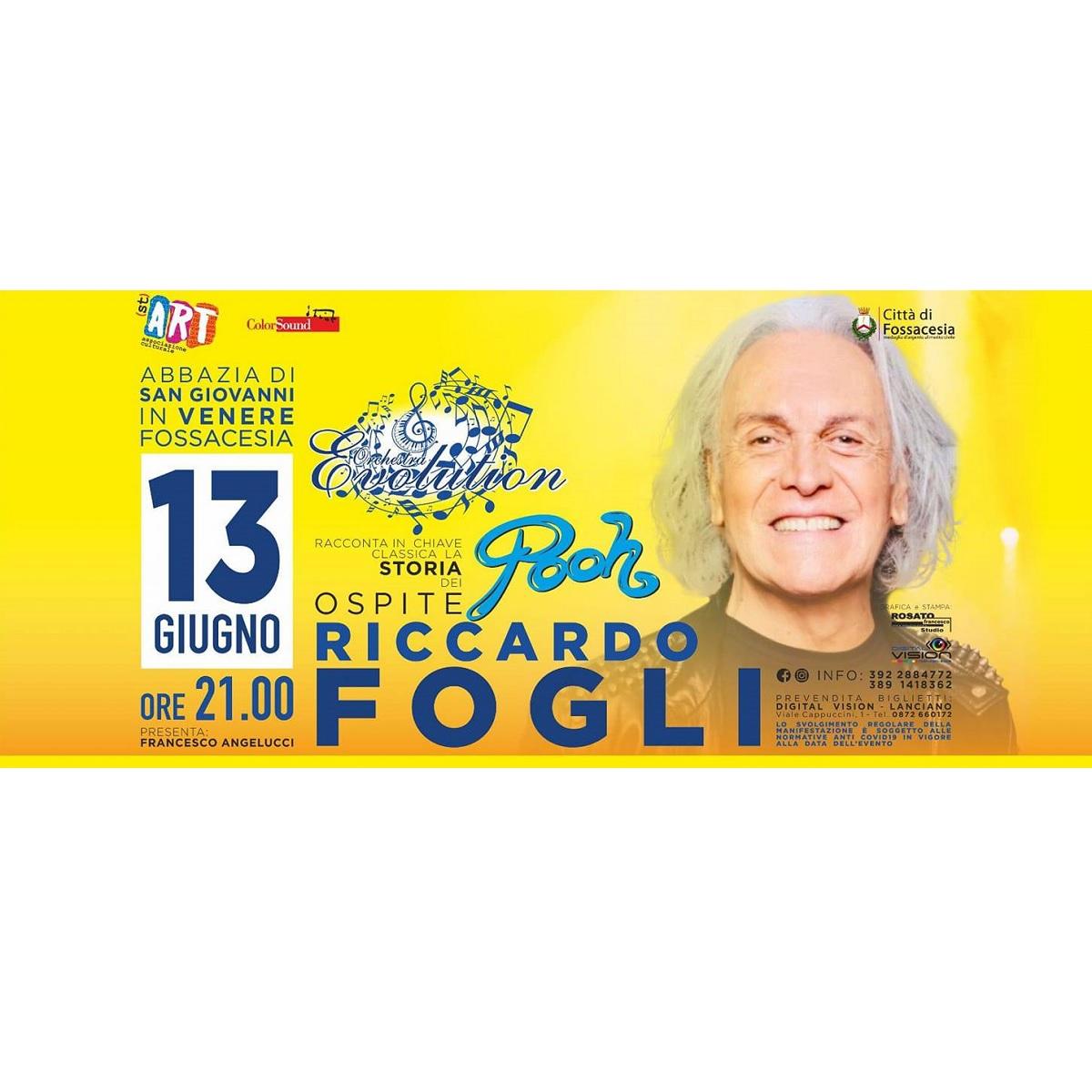 Riccardo Fogli a Fossacesia il 13 giugno 2021 locandina