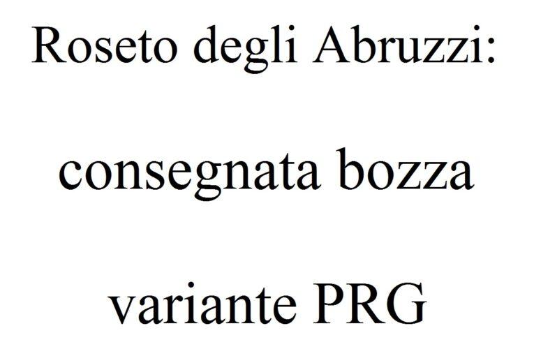 Roseto degli Abruzzi: consegnata bozza variante PRG