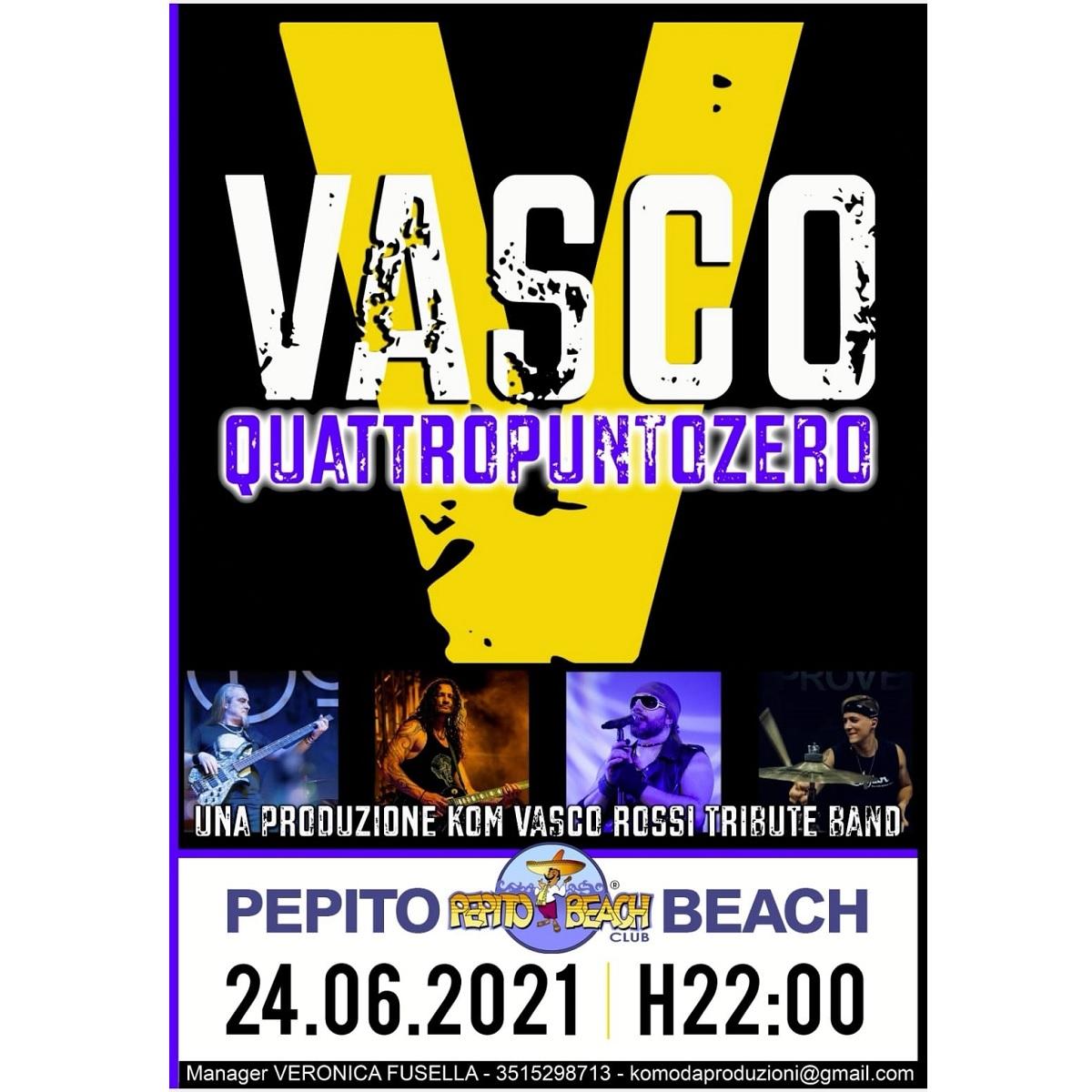Vasco Quattropuntozero al Pepito Beach 24 giugno 2021 foto