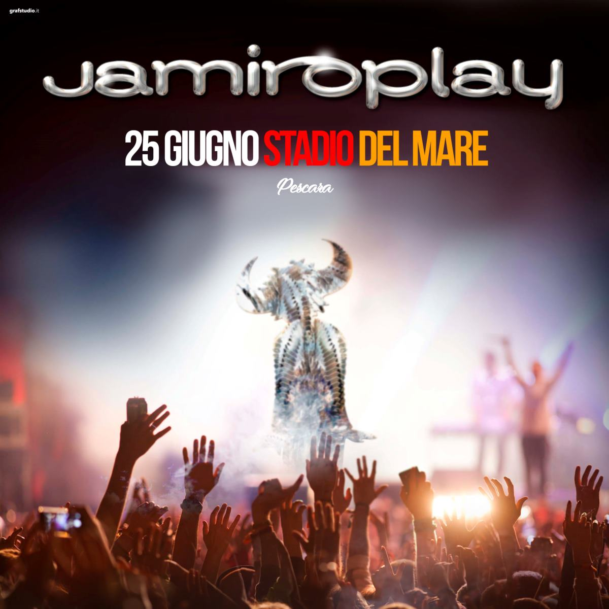 Venerdì 25 giugno 2021 Jamiroplay live al Pescara City Summer
