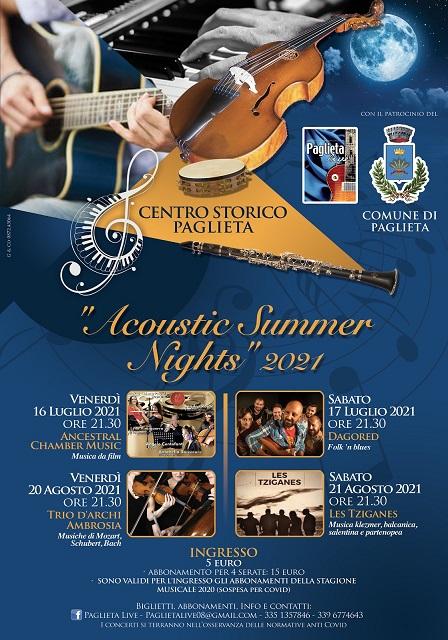 Acoustic Summer Nights 2021 locandina