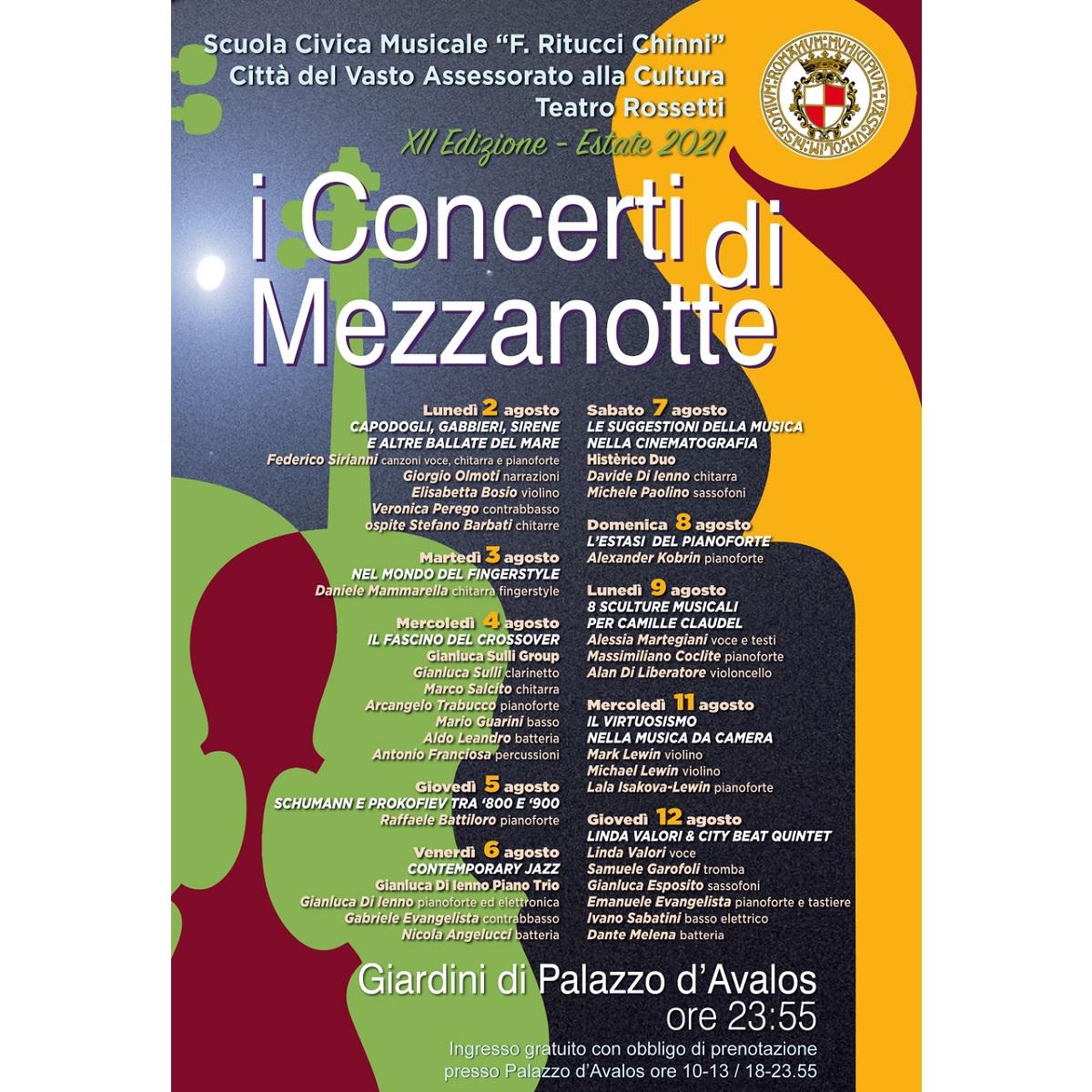 """Al via """"I Concerti di Mezzanotte"""" 2 agosto 2021 foto"""