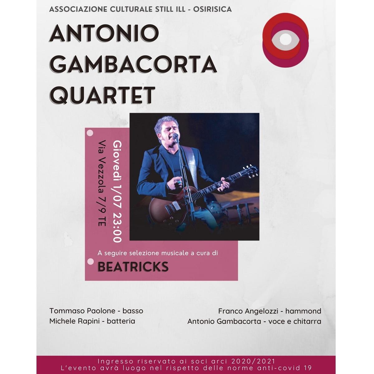 Antonio Gambacorta Quartet presso Osirisica foto