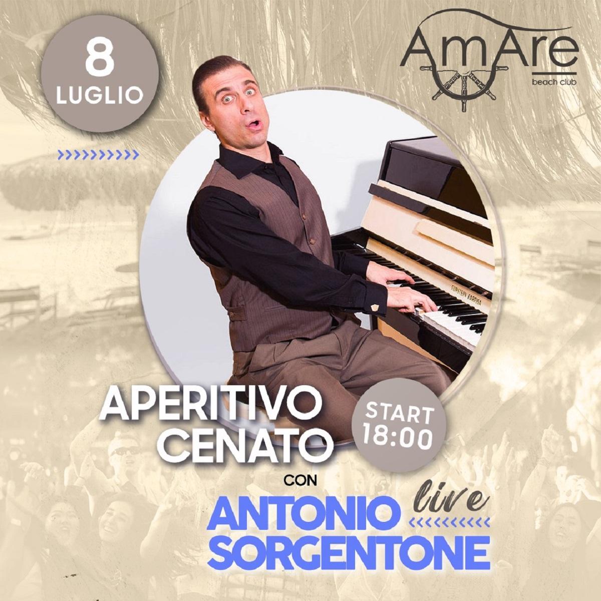 Aperitivo cenato e Antonio Sorgentone 8 luglio 2021 foto