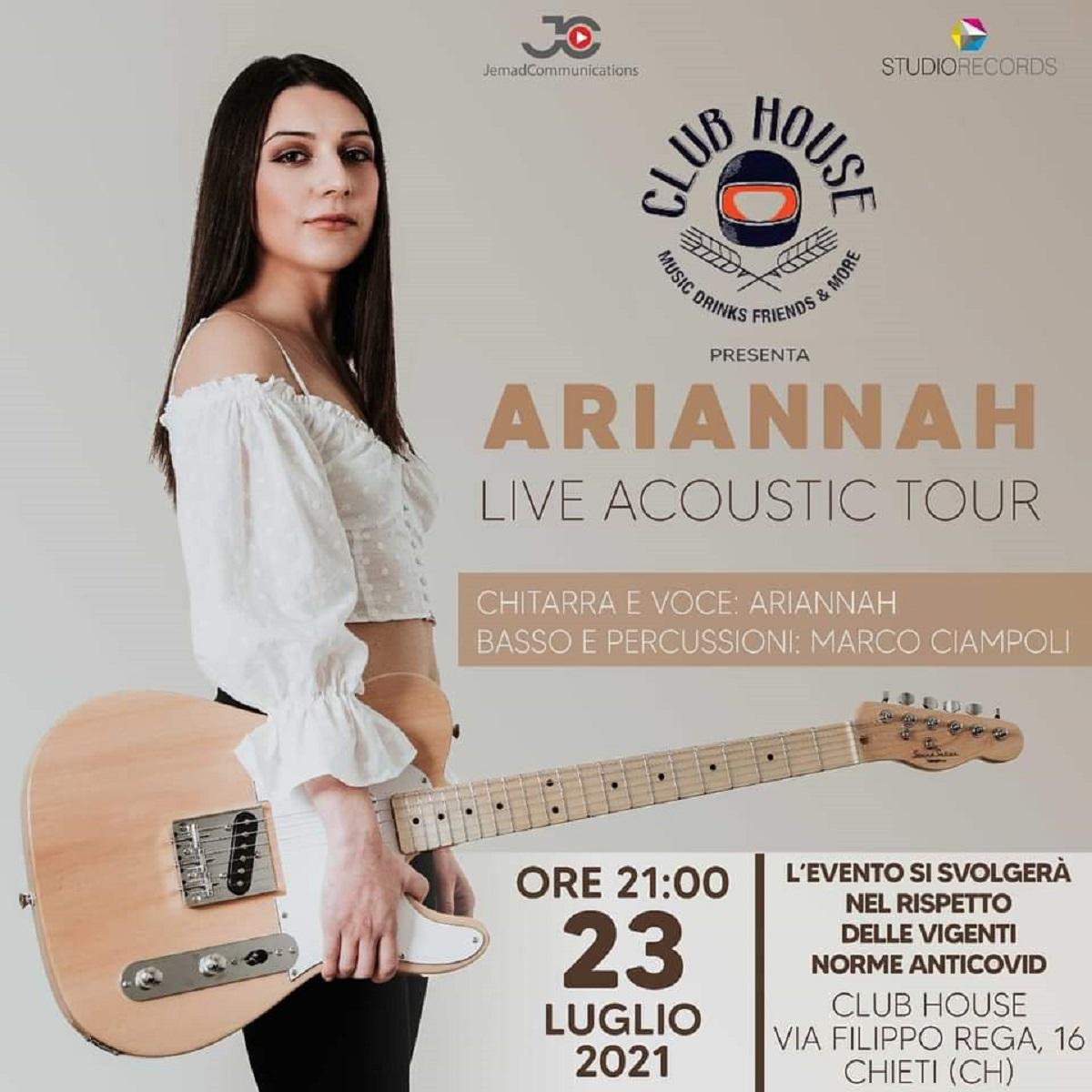 Ariannah live al Club House a Chieti 23 luglio 2021 foto