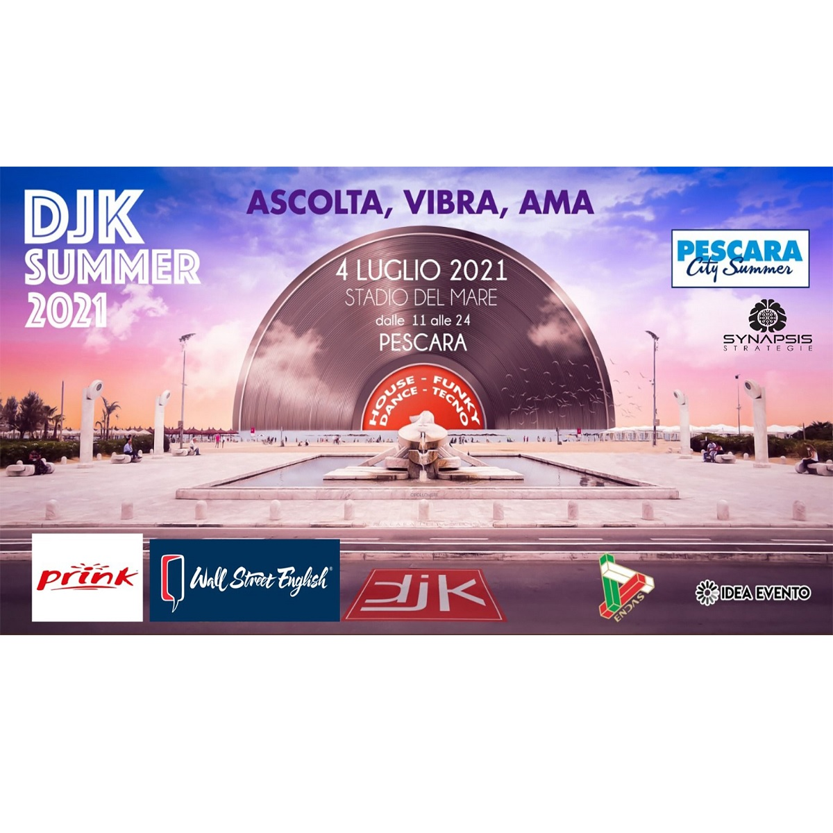 DJK Summer 2021 al Pescara City Summer 4 luglio 2021 foto