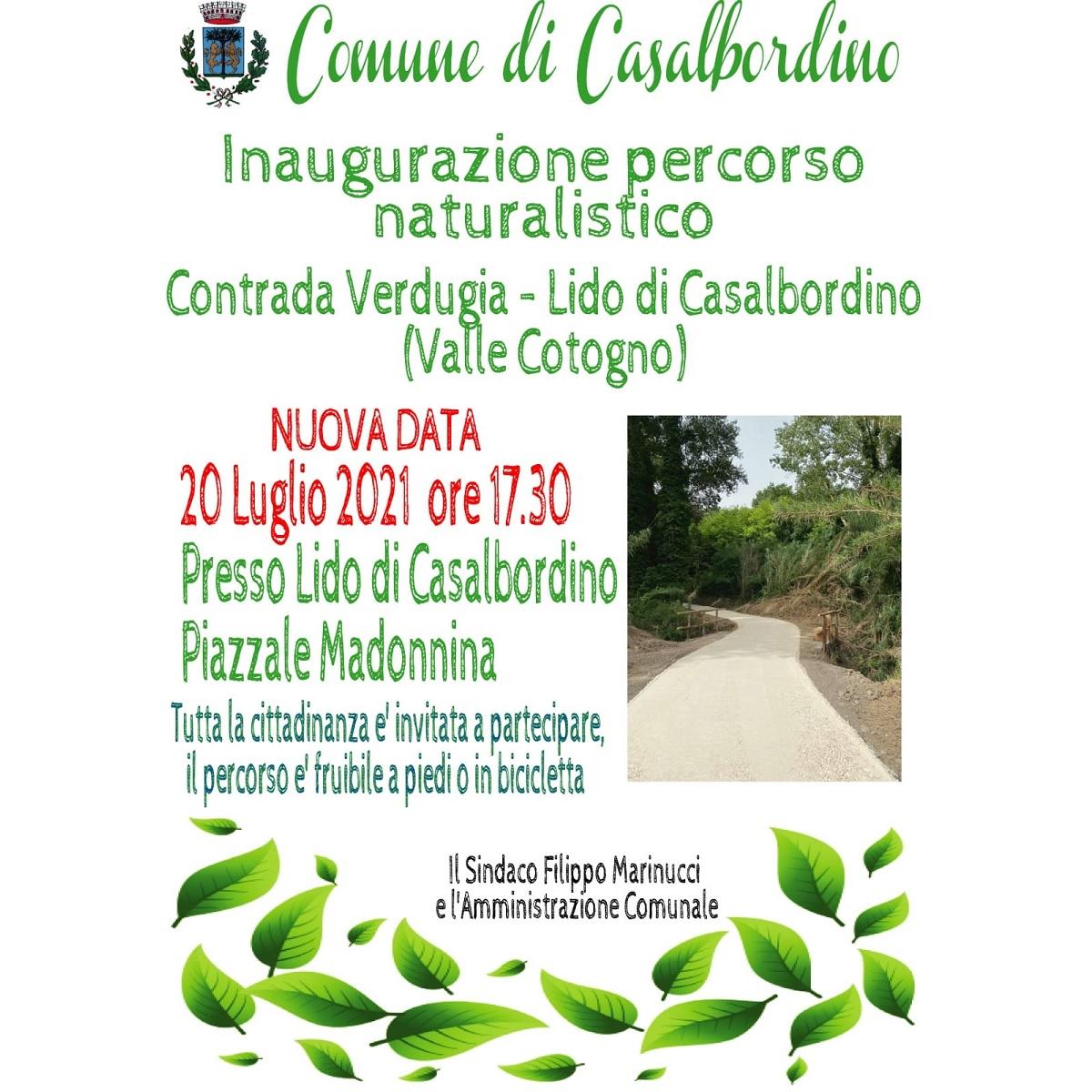 Inaugurazione del percorso naturalistico 20 luglio 2021 foto