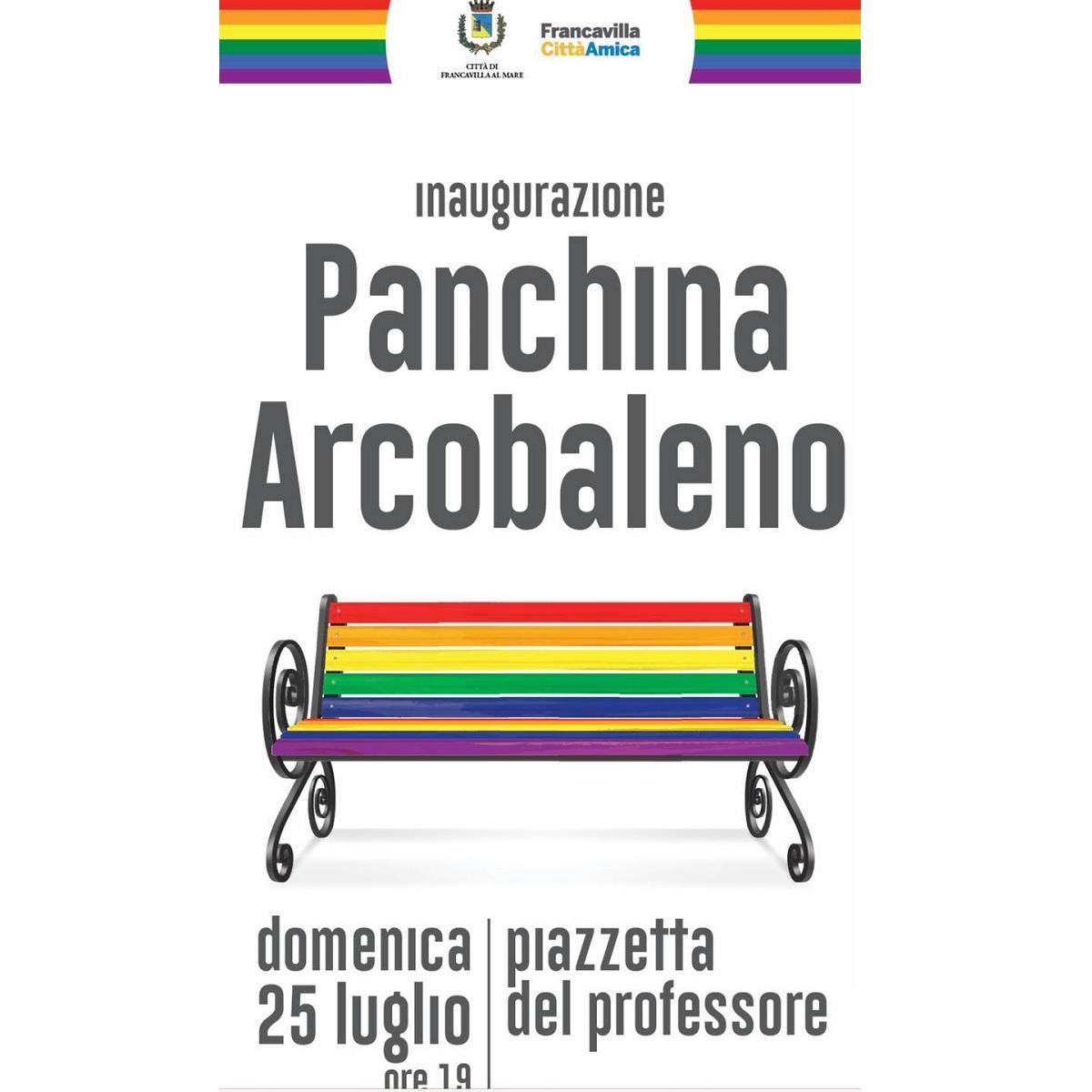Inaugurazione panchina arcobaleno a Francavilla al Mare foto