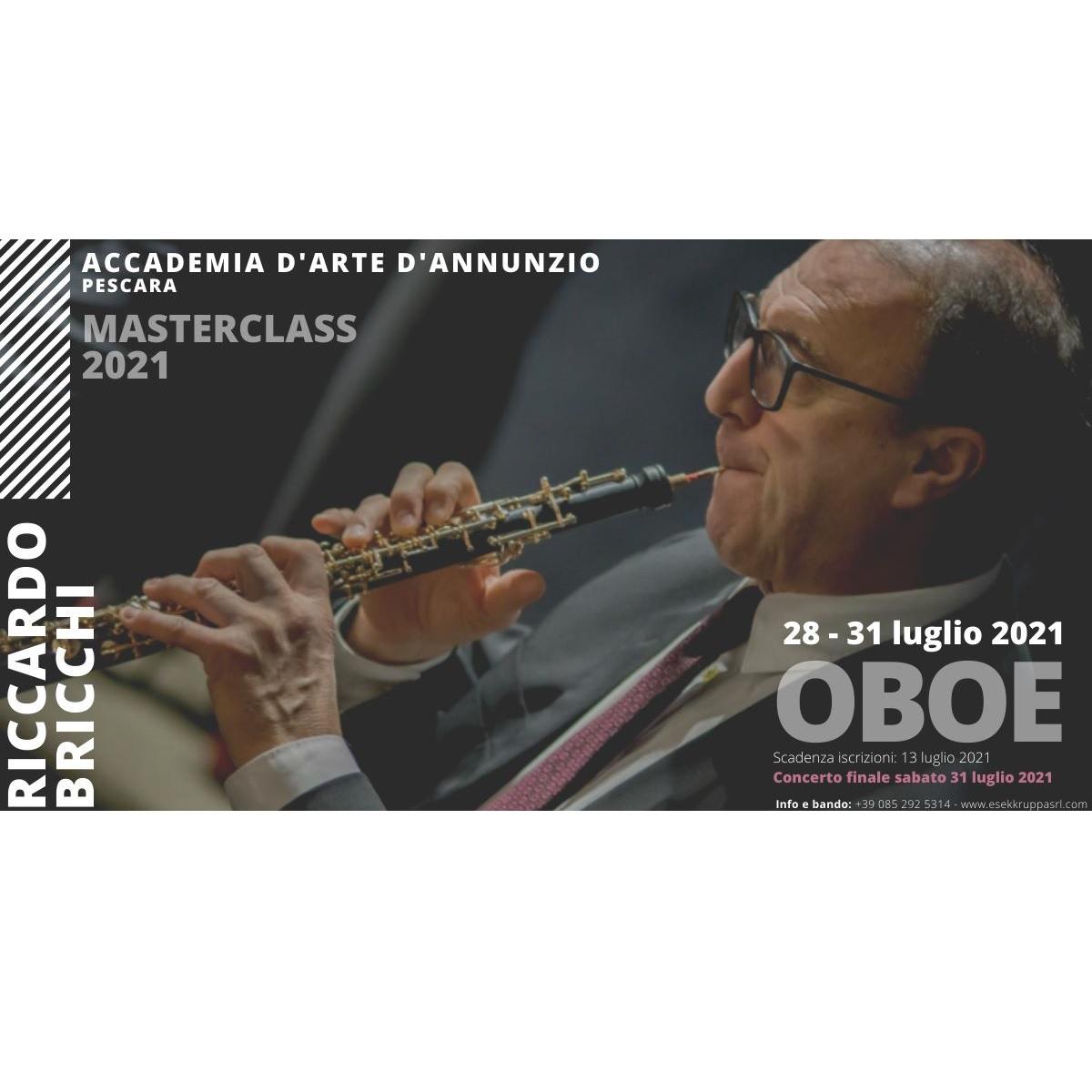 Masterclass di Oboe Riccardo Bricchi dal 28 al 31 luglio 2021 foto