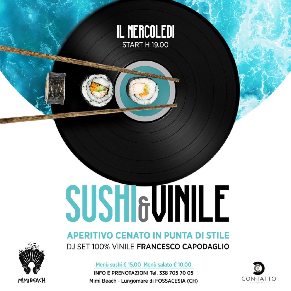 Mimì Beach Club presenta Sushi & Vinile 7 luglio 2021 foto