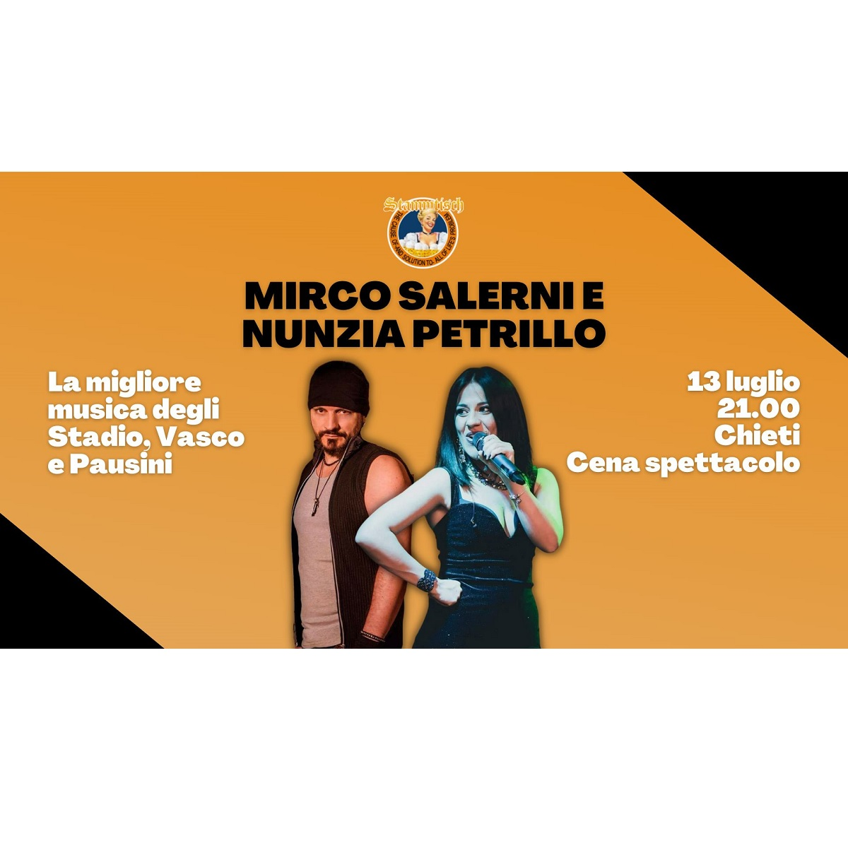 Mirco Salerni e Nunzia Petrillo allo Stammtisch Tavern foto