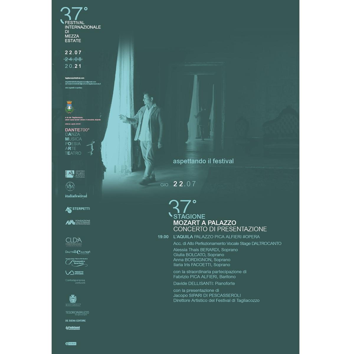 Mozart a Palazzo Pica Alfieri a L'Aquila 22 luglio 2021 foto