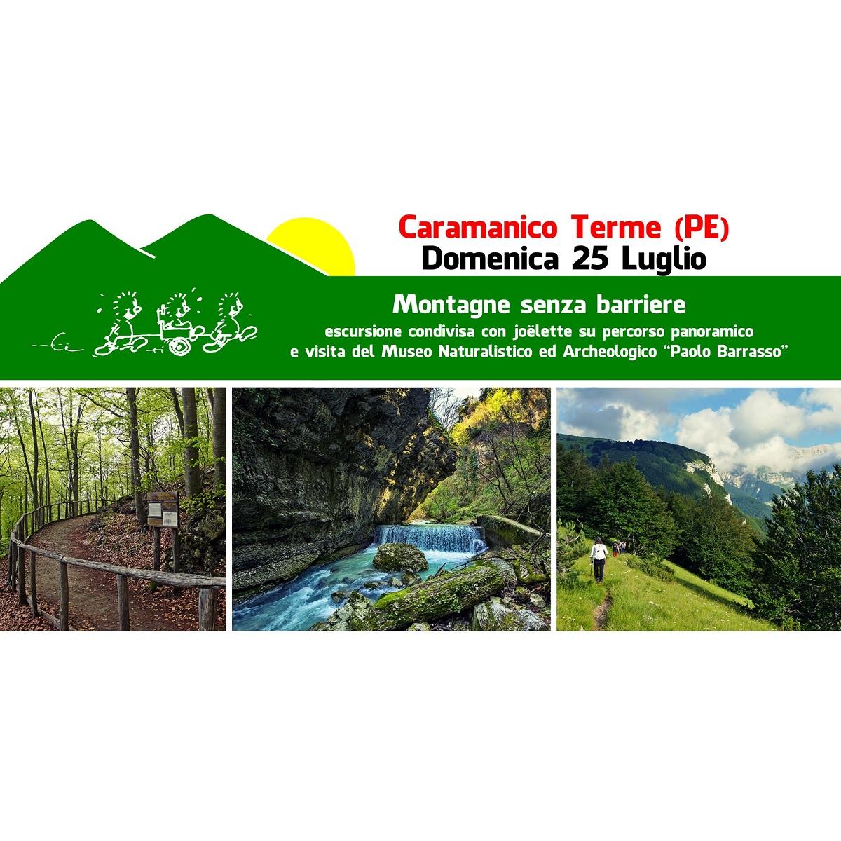 Passeggiata in joёlette sui sentieri di Caramanico Terme foto