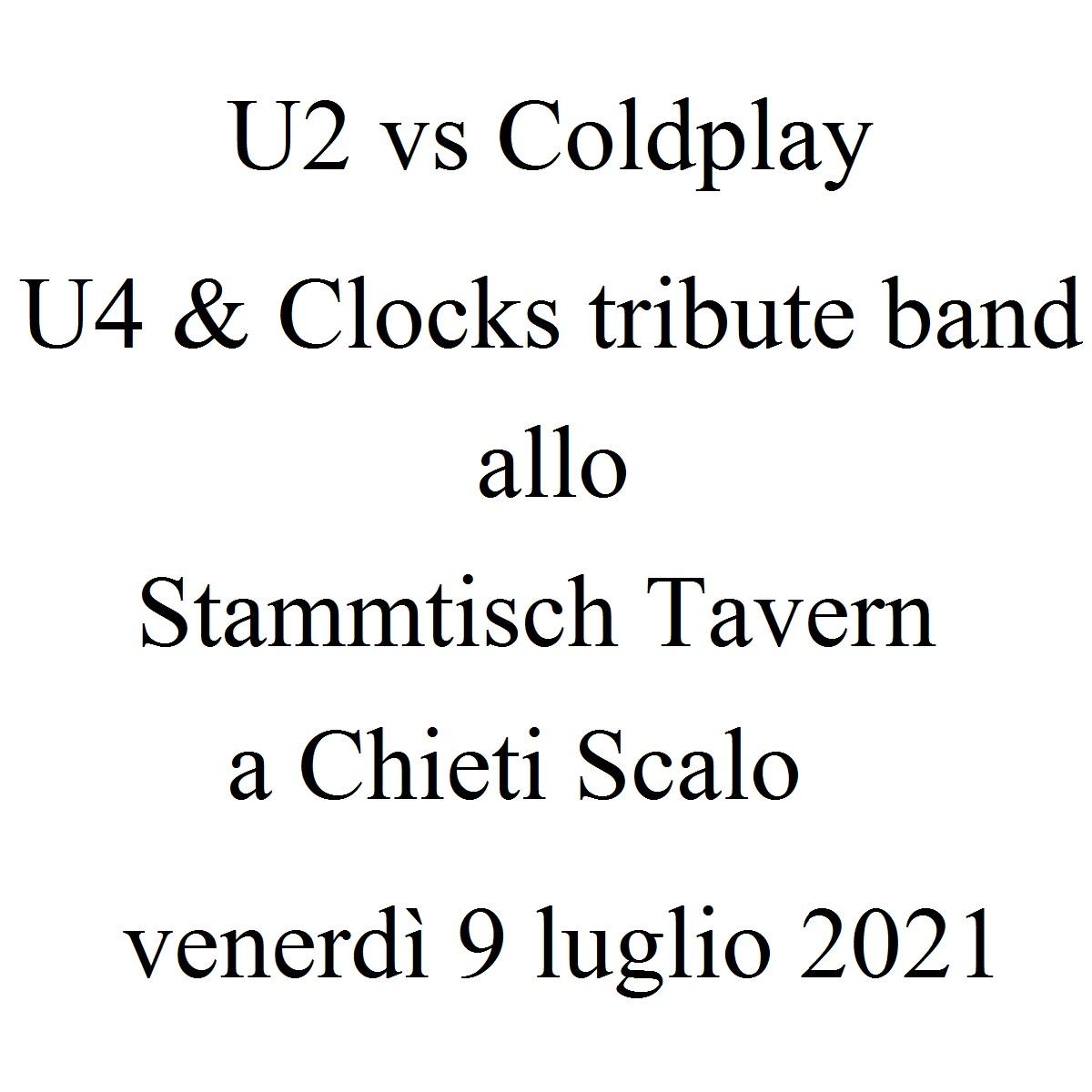 U2 vs Coldplay - U4 & Clocks tribute band 9 luglio 2021 foto