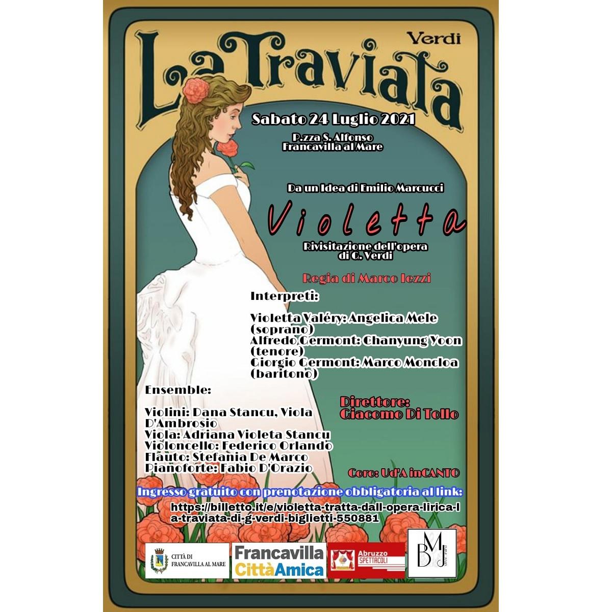 Violetta La Traviata di Giuseppe Verdi sabato 24 luglio 2021 foto
